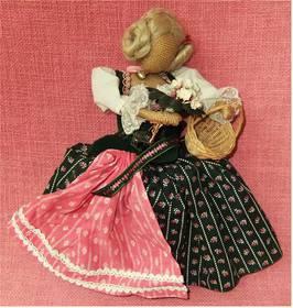 Handarbeit-Puppe - Arme beweglich - Jedoch ohne Gesicht