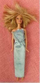 Barbie Puppe im hellblauen Kleid - ca. 30 cm Länge