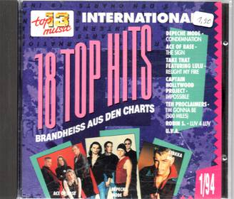 18 Top Hits 1/94 - Top 13 Music international