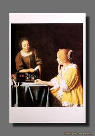 Jan Vermeer - Dame mit Dienstmagd und Brief