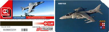 Telefonkarte - Italien - Marine Jet AV8P PLUS