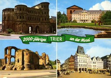 2000-jähriges Trier an der Mosel - Porta Nigra / Kurfürstliches P