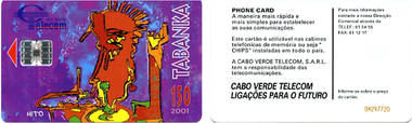 Telefonkarte - Kapverdische Inseln - Kunst (Tabanka)