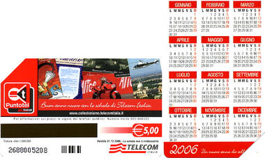 Telefonkarte - Italien - neues Jahr