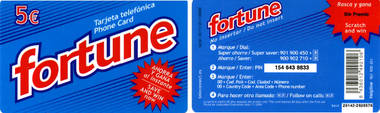 Telefonkarte - Spanien - Fortune