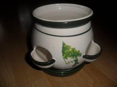 Pflanztopf für Kräuter  Porzellan