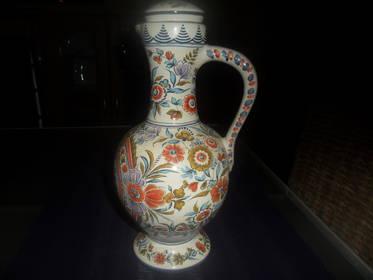 Ulmer Vase   von 1960  mit Blumen Motiv