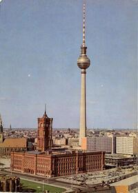 Berlin - Hauptstadt der DDR - Fernseh- und UKW-Turm der Deutschen