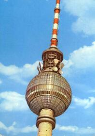 Berlin - Hauptstadt der DDR - Kugel des Fernseh- und UKW-Turmes
