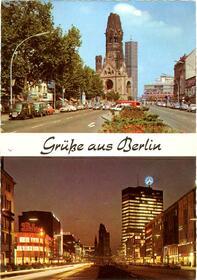 Berlin - Kurfürstendamm und Gedächtniskirche / Tauentzienstraße m