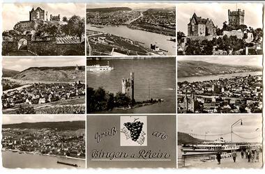 Gruß aus Bingen a. Rhein (Mehrbildkarte)
