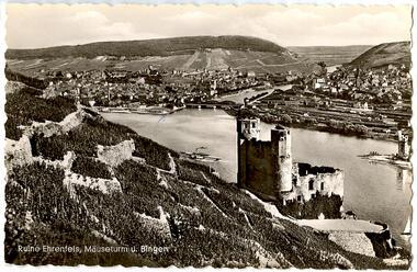 Ruine Ehrenfels, Mäuseturm u. Bingen (Rhein)