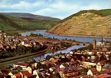 Bingen am Rhein mit Nahemündung (dreisprachig)
