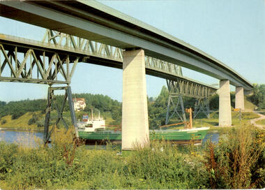 Kiel Holtau alte und neue Hochbrücke