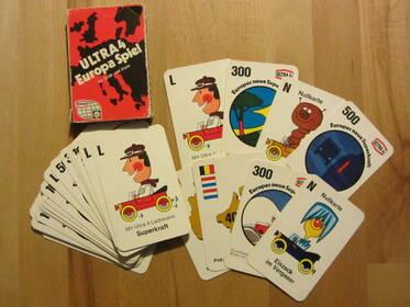 Europa Spiel Ultra 4 von Texaco, kultiges Kartenspiel 70er Jahre