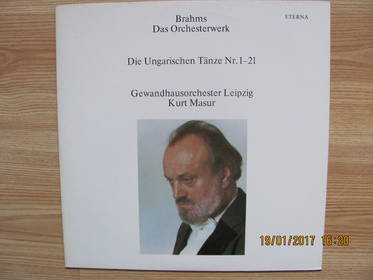 Johannes Brahms (1833-1897) Gewandhausorchester Leipzig, Kurt Ma