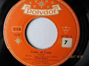 Margot Eskens – Cindy, Oh Cindy