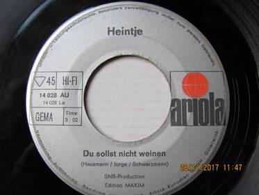 Heintje – Du Sollst Nicht Weinen / Ich Bau' Dir Ein Schloß