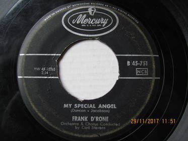 Frank D'Rone – My Special Angel / Once In A Million Years
