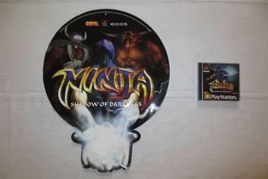 PS1 Ninja Shadow of Darkness Store Display Sign Promo PAL