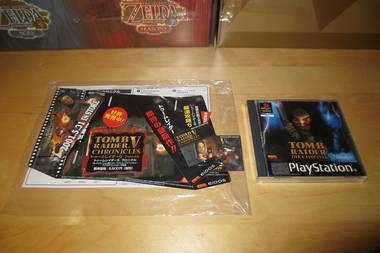 PS1 Tomb Raider Chronicles Promo Sign/Counter Display/Aufsteller