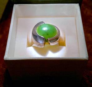 Wunderschöner antiker Ring mit einzigartiger kaiserlicher Jade