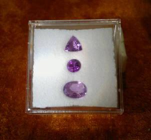 Leuchtende Amethyste im Trilliant-, Rund und Ovalschliff, 1,20 ct