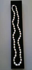 Echtes Süßwasser-Perlen-Collier / Perlenkette, Silberverschluss