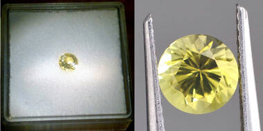 Seltener, wunderschön leuchtender Chrysoberyll mit 0,25 ct.! Rar