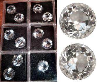 Sehr schöne Bergkristalle im Brillantschliff aus Juweliersammlung