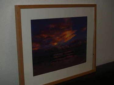 Bild mit Rahmen, Sonnenuntergang