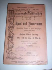 Gustav Albert Lortzing: Czaar und Zimmermann