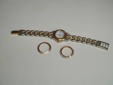 Damen Armbanduhr mit Tauschblenden