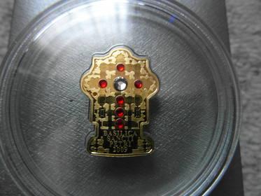 Goldmünze mit Swarovski - Kristallen,Vatikan - Petersdom 2009 RAR