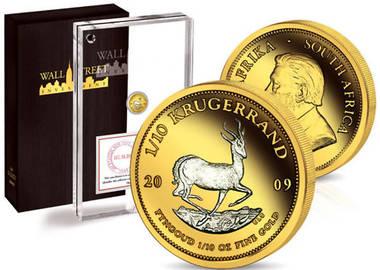 Gold+Platin,Springbock Krügerrand 2009, Wall Street Investm. Coll