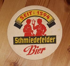 Schmiedeflder Bier BD Bierdeckel
