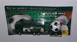 Scania Modell H0 LKW Sternquell Minitruck mit Fußball WM 2002