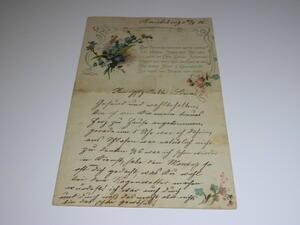 Alter handgeschriebener Brief,altdeutsch,29.08.1906,Schmiedeberg