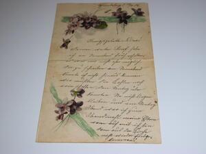 Alter handgeschriebener Brief,altdeutsch,28.11.1906, Schmiedeberg