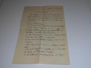 Alter handgeschriebener Brief,altdeutsch,Stolpe Pommern 1933