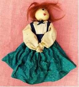 Stoff-Puppe mit krummer Nase - Handarbeit - ca. 28 cm Länge