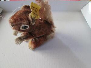 Kleines Steiff Eichhörnchen Perri Cop. Walt Disney Prod. Schild +