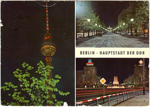 Berlin - Hauptstadt d. DDR - Fernseh- und UKW-Turm der Deutschen