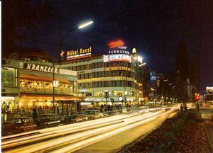 Berlin - Kurfürstendamm mit Café Kranzler und Kaiser-Wilhelm-Gedä
