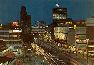 Berlin - Kurfürstendamm mit Kaiser-Wilhelm-Gedächtniskirche und