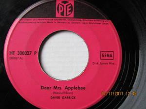 David Garrick – Dear Mrs. Applebee