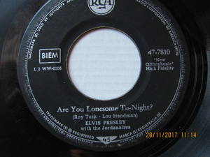 Elvis Presley ‎– Are You Lonesome To-Night? / I Gotta Know