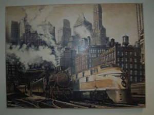 Eisenbahnbild mit Rahmen